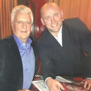 BSMG's John Baker with John Hayes at the official launch of Hayes' autobiography, 'The Bull' on Sept 27th 2012
